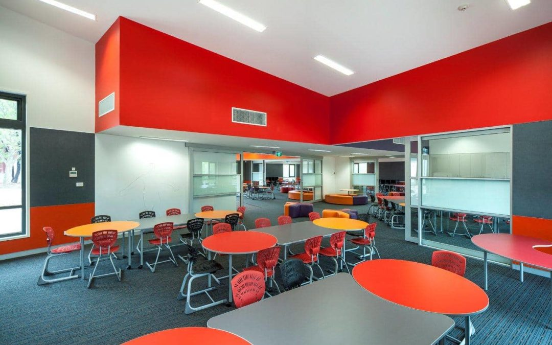 ACOUSTICALLY SUSTAINABLE CLASSROOM WITH AUTEX QUIETSPACE