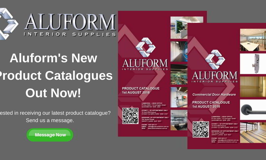 Aluform's New Product Catalogues Out Now!